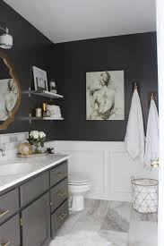 Best Paint Color For Bathroom Cabinets by Best 25 Dark Gray Bathroom Ideas On Pinterest Grey Bathrooms