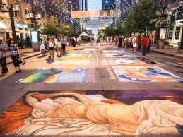 Denver International Airport Murals by Denver Chalk Art Festival Visit Denver