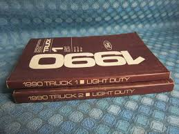 1990 Ford Light Duty Truck Original Specification Book 2 Volume Set ...