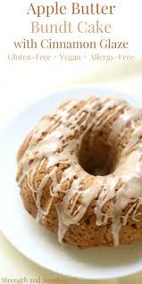 Gluten Free Apple Butter Bundt Cake with Cinnamon Glaze Vegan