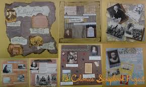 13 Colonies Scrapbook Project