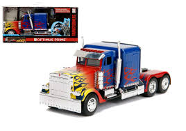 100 Optimus Prime Truck Model Transformers T1 Hollywood Rides 132 Diecast By