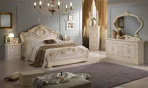 klassisches schlafzimmer komplett beige hochglanz set 6tl italienische möbel ebay
