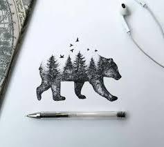 Drawn Grizzly Bear California Flag 1880087