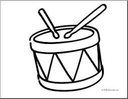 Clip Art Basic Words Drum Coloring Page I Abcteach
