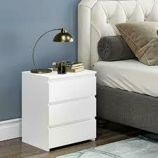 modern nachttisch nachtschrank 3 schublade kommode mdf beistelltisch schlafzimmer schrank