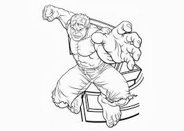 Avengers Hulk Coloring Pages Printable
