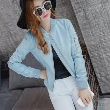 online get cheap women blue leather jacket aliexpress com
