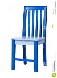blue wooden chair isolated white royalty free stock photos