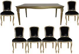 casa padrino barock luxus esszimmer set schwarz gold esstisch 6 stühle möbel antik stil luxus qualität limited edition barockgroßhandel de