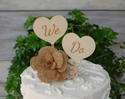 Rustic Cake Topper Engraved Shabby Chic Custom