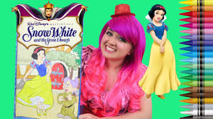 Coloring Snow White Disney Princess GIANT Book Colored Pencils