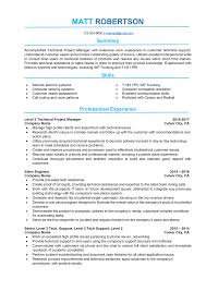 A Technical Project Manager Resume