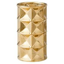 Add Dimension And Texture To Your Home With This Gold Accented Faceted Vase From Nate Berkus Filled Or Empty Its A Gorgeous Addition Any Decor