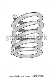 Vector Drawing Of A Metal Spring