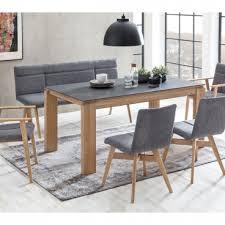 standard furniture sitzbank arona bezug grau gestell aus massivholz in eiche bianco geölt moderne poterbank für esszimmer und küche