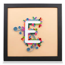 Letter E Handmade Birthday Personalized Gifts For Him Her Frame