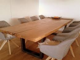 massivholztisch aus eiche modern esszimmer münchen