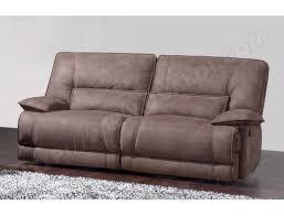 canape relax tissu canapé tissu ub design eros 3 places 2 relax électriques marron