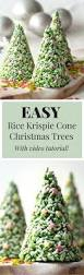 Rice Krispie Christmas Tree Pops by Rice Krispie Cone Christmas Trees Lauren Caris Cooks