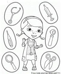 Doc McStuffins Coloring Page With The Medical Instruments