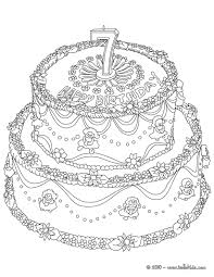 Birthday Cake 8 Years 7 Yeras Coloring Page