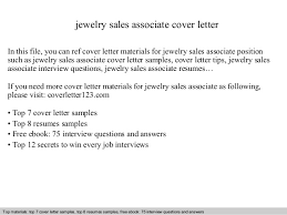 Jewelry Sales Associate Cover Letter In This File You Can Ref Materials For Sample