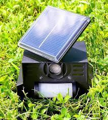 répulsif sonore pour chien et chat solaire avec capteur