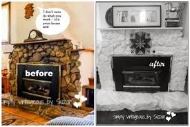 Can You Paint Stone Fireplace