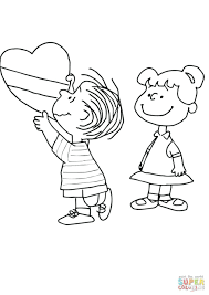 Coloring Pages Snoopy Woodstock Christmas Charlie Brown Valentine Page Free Printable