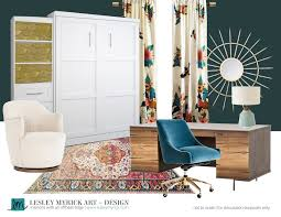 100 Walls By Design A Warm And Modern Home Office With Dark Teal Lesley