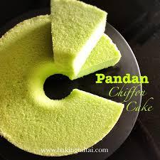 baking taitai 烘焙太太 healthy pandan chiffon cake 健康香兰