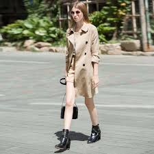 Waterproof Trench Coat For Women British Style Fall 2017 Fashion Womens Windbreaker Duster Autumn Winter Long