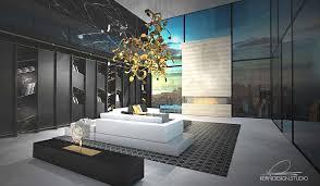 wohnzimmer mit galerie kern design gmbh innenarchitektur
