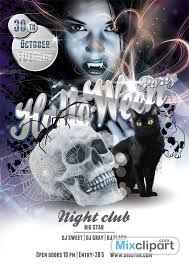 Free Halloween Flyer Templates by Template Flyer Halloween Party U2013 Free Psd File Mixclipart Com