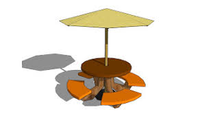 learning wood project octagon picnic table plans with umbrella hole