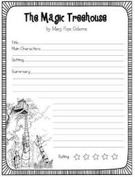 FREE The Magic Treehouse Book Reports 3 Versions