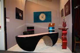 bureau design noir laqu f line creations agencement haut gamme et création de mobilier