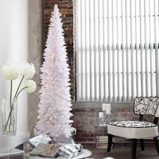 Hayneedle Flocked Christmas Trees by Home Decor Alluring Pencil Christmas Tree Prelit Perfect With