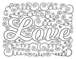 Love Coloring Pages To Print And