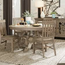 Tinley Park Traditional DoveTail Grey 60 Round Dining Table