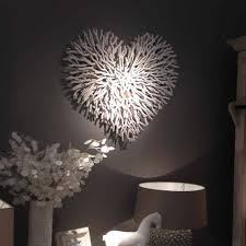 Handmade Large White Twig Wall Heart Cowshed Interiors