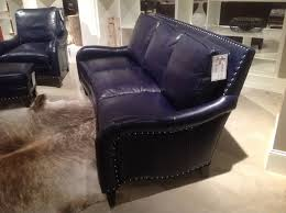 blue leather sofa at bradington young fall 2012 market trends