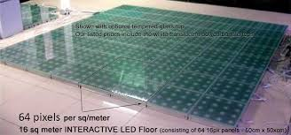 interactive floor with touch sesitive and abstract visual