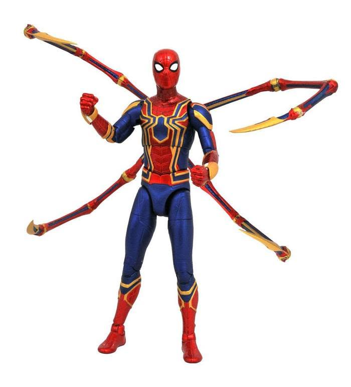 Marvel Diamond Select Iron Spider Avengers Infinity War Action Figure - 7""