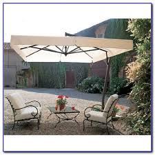 Solar Lighted Rectangular Patio Umbrella by Rectangular Patio Umbrella Solar Lights Patios Home Design