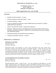 Sample Banking Resume Samples Skills For Investment