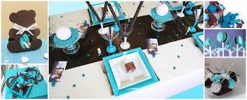 thème turquoise et chocolat baptême bébé baptême bébé