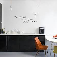 2PCS DIY Wall Stickers Kitchen Decoration Home Letter Heart Pattern PVC Removable Sticker