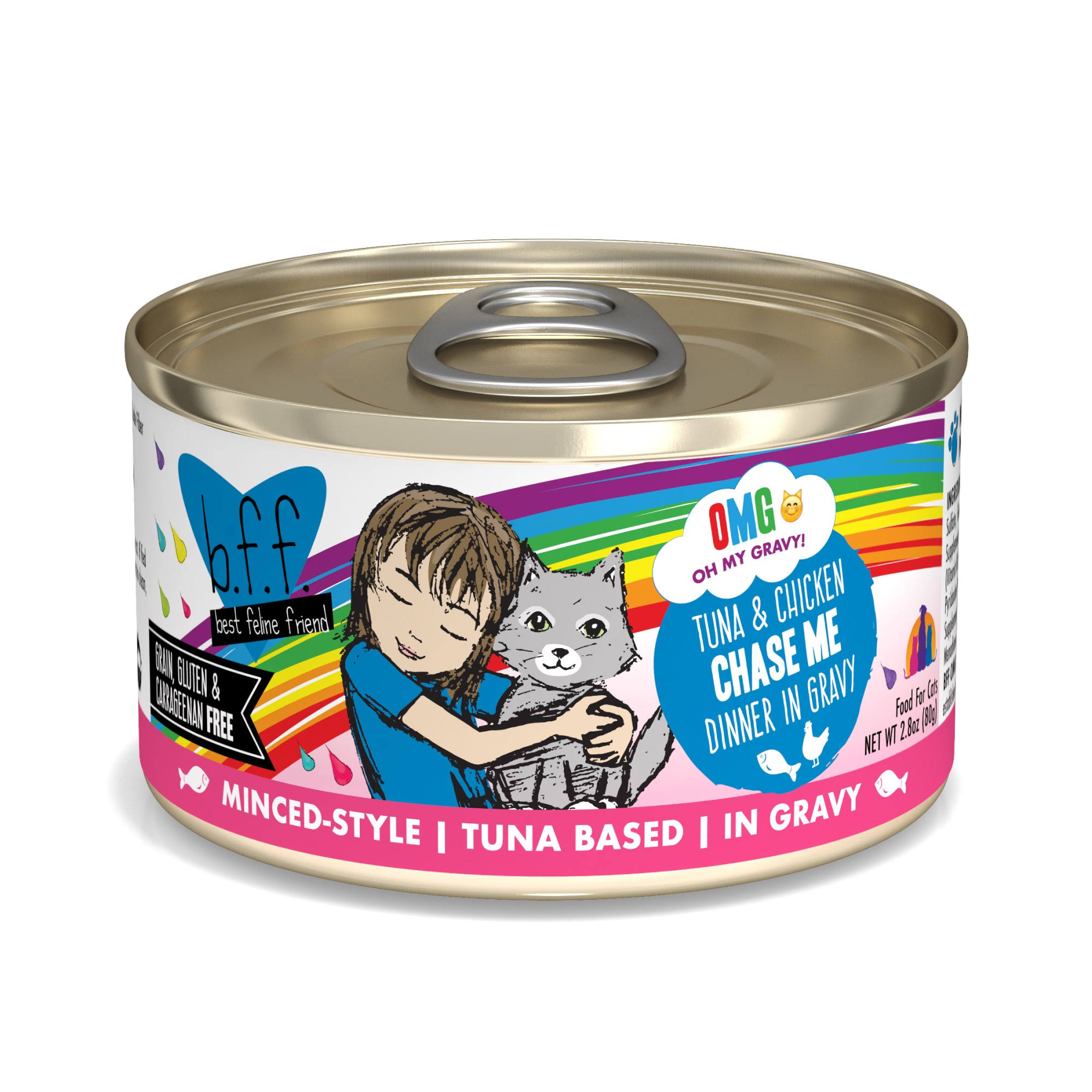 B.f.f. OMG Tuna & Chicken Chase Me Dinner in Gravy OMG Food for Cats - 2.8 oz